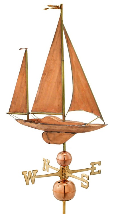 Large Sailboat Weathervane 9907 By Good Directions -9