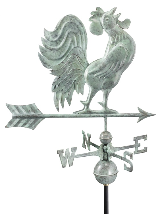 Hand Crafted Crowing Rooster Weathervane -38