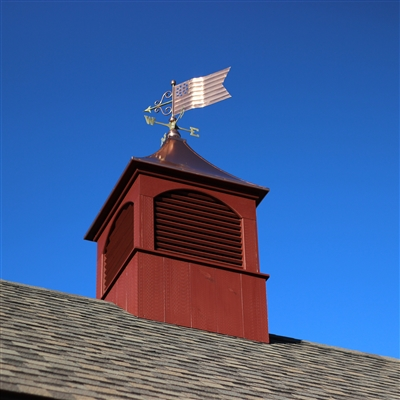 American Flag Weathervane Hand Crafted From Pure Copper -4648