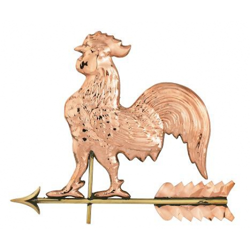 Detailed Small Copper Rooster Weathervane-3909