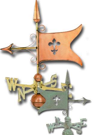 Banner Copper Weathervane-333