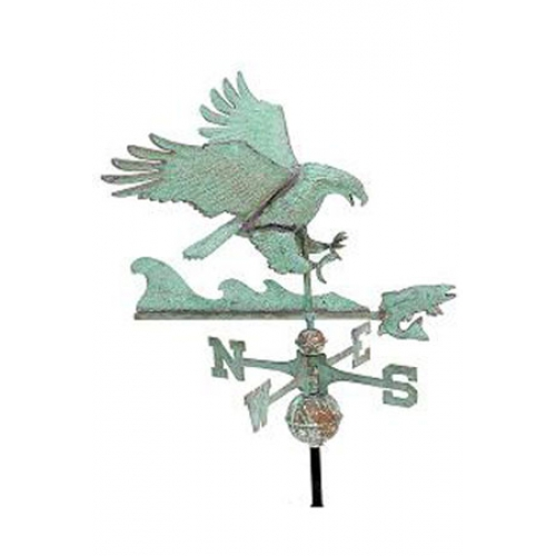 Eagle with Fish 3-D Copper Weathervane-3873