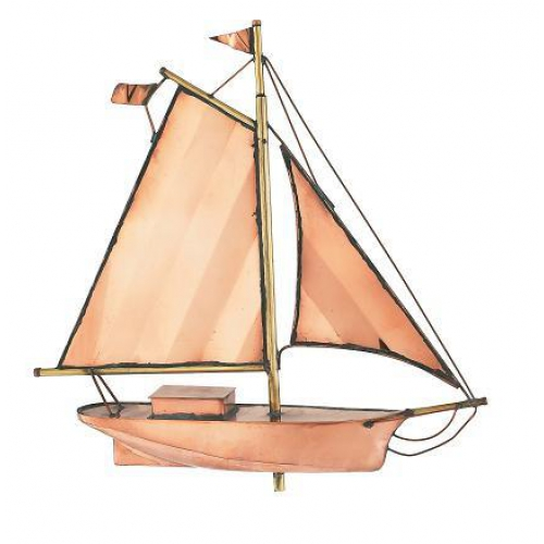 Small Sloop Copper Weathervane-3883