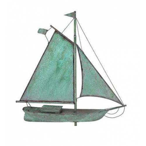 Small Sloop Copper Weathervane-3897