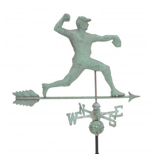 Baseball Pitcher Copper Weathervane-3950