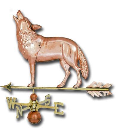 Wolf Copper Weathervane-0