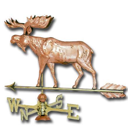 Moose Copper Weathervane-404