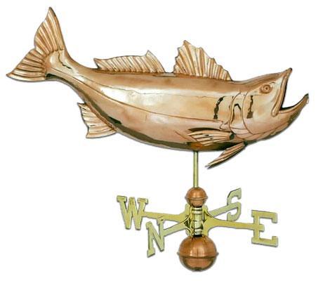 Jumping Bass Copper Weathervane-0