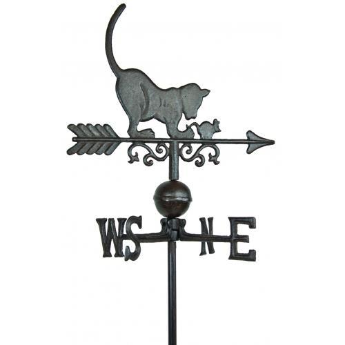 Steel Cat Weathervane-0