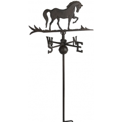 """Horse steel Weathervane With Roof Mount 40""""H x 14""""L-0"""