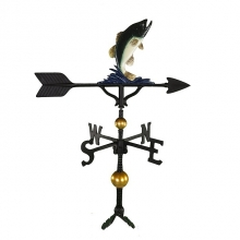 "Old Barn Rustic Co. 32"" Deluxe Bass Aluminum Weathervane-1212"