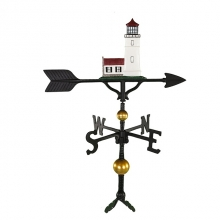 """Old Barn Rustic Co. 32"""" Deluxe Cottage Lighthouse Aluminum Weathervane-1258"""