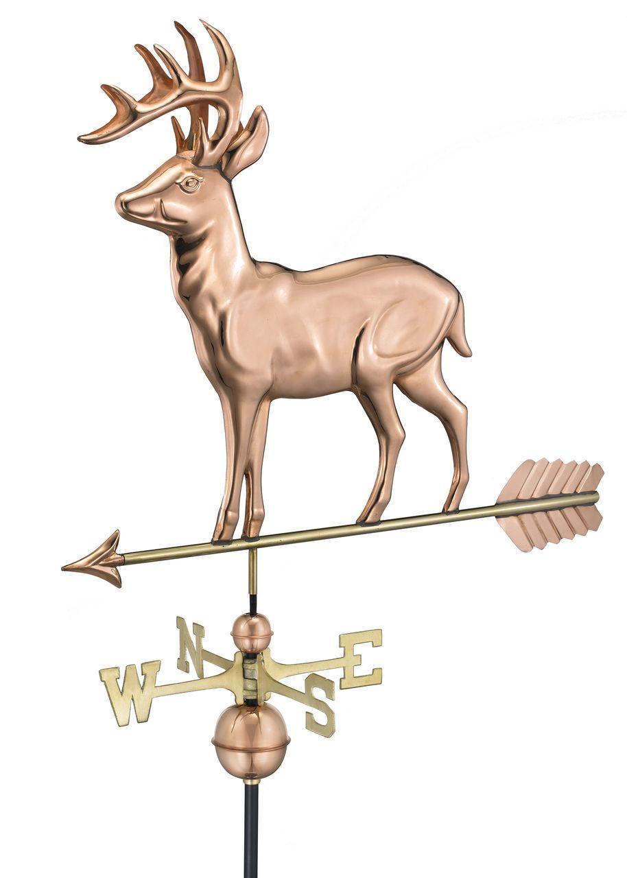 Good Directions Standing Deer Weathervane 310S With Arrow -0