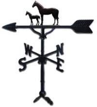 """Old Barn Rustic Co. 32"""" Mare and Colt Steel Weather Vane-0"""