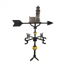"""Old Barn Rustic Co. 32"""" Deluxe Cottage Lighthouse Aluminum Weathervane-1259"""