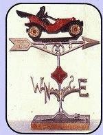 Roadster Aluminum Weathervane-0
