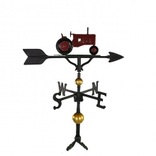 """Old Barn Rustic Co. 32"""" Deluxe Red Color Tractor Weathervane-0"""