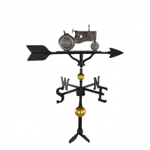 """Old Barn Rustic Co. 32"""" Deluxe Swedish Iron Color Tractor Weathervane-0"""