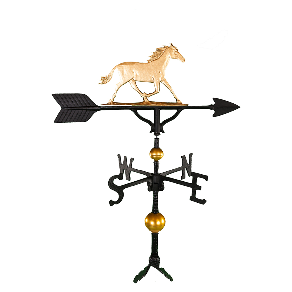 """Old Barn Rustic Co. 32"""" Deluxe Horse Weathervane -4128"""