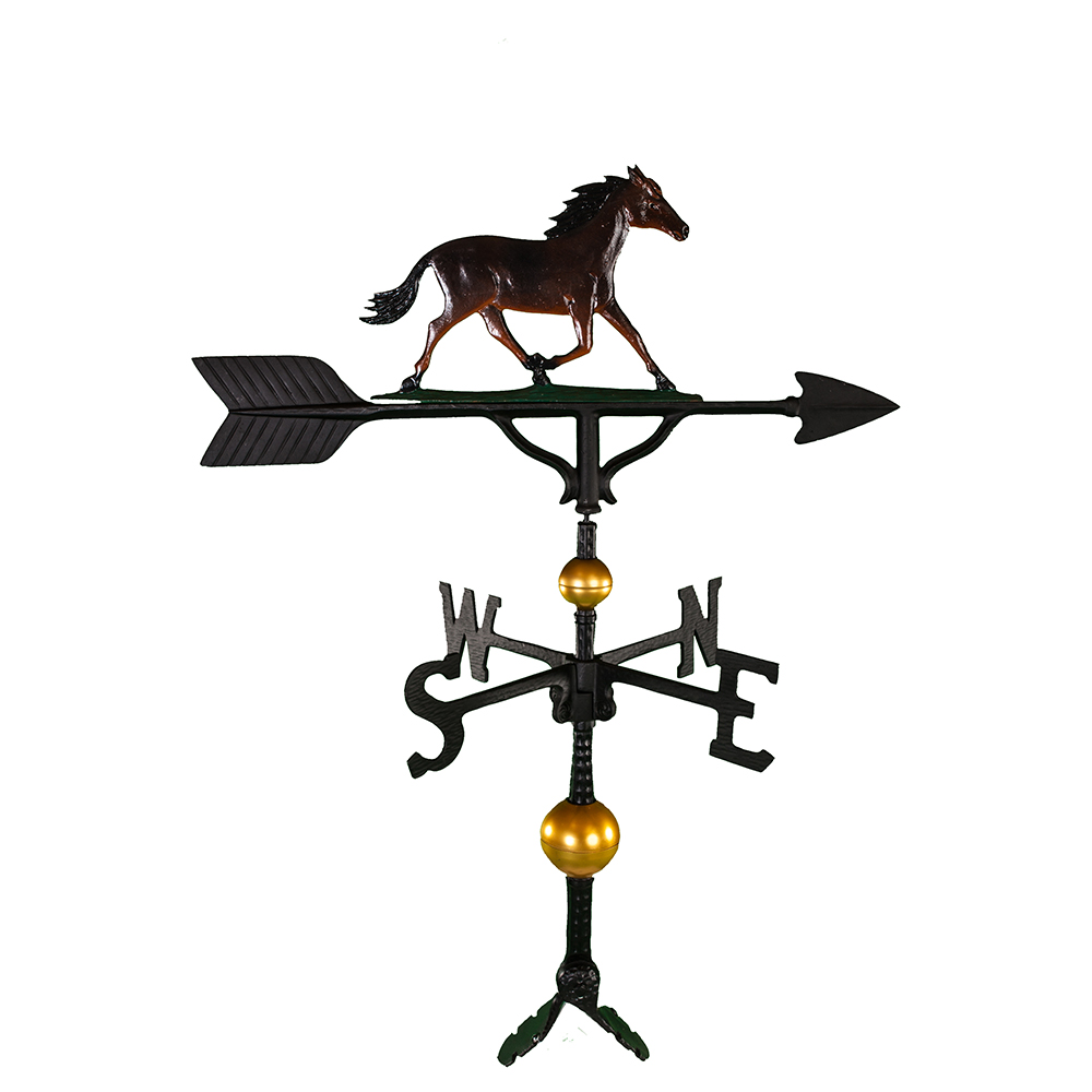 """Old Barn Rustic Co. 32"""" Deluxe Horse Weathervane -0"""