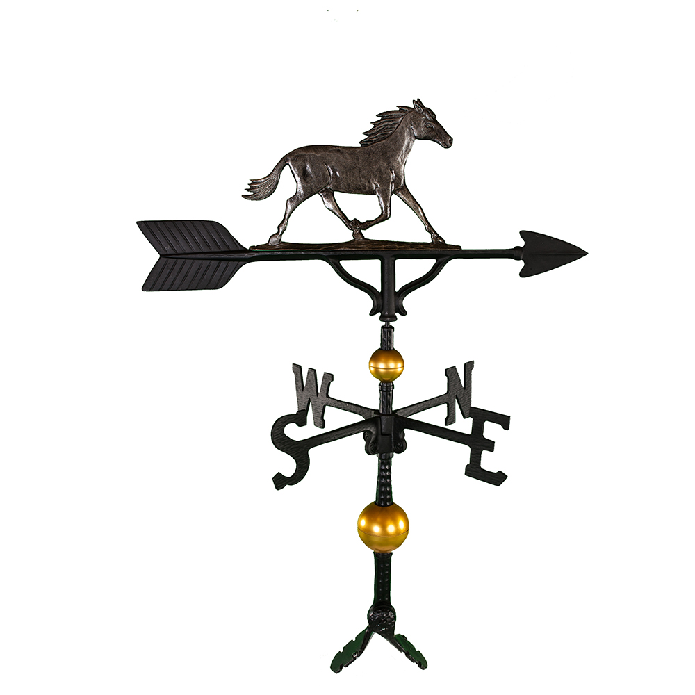 """Old Barn Rustic Co. 32"""" Deluxe Horse Weathervane -4127"""