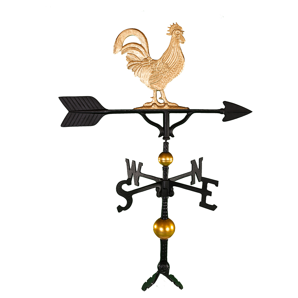 "Old Barn Rustic Co. 32"" Steel Rooster Weather Vane-4112"