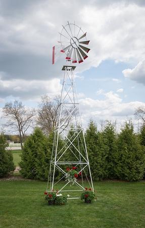 Twenty Two Foot Ornamental Aluminum Windmill-0