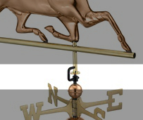 Weathervane Retainer Clip For Good Directions Weather Vanes-0