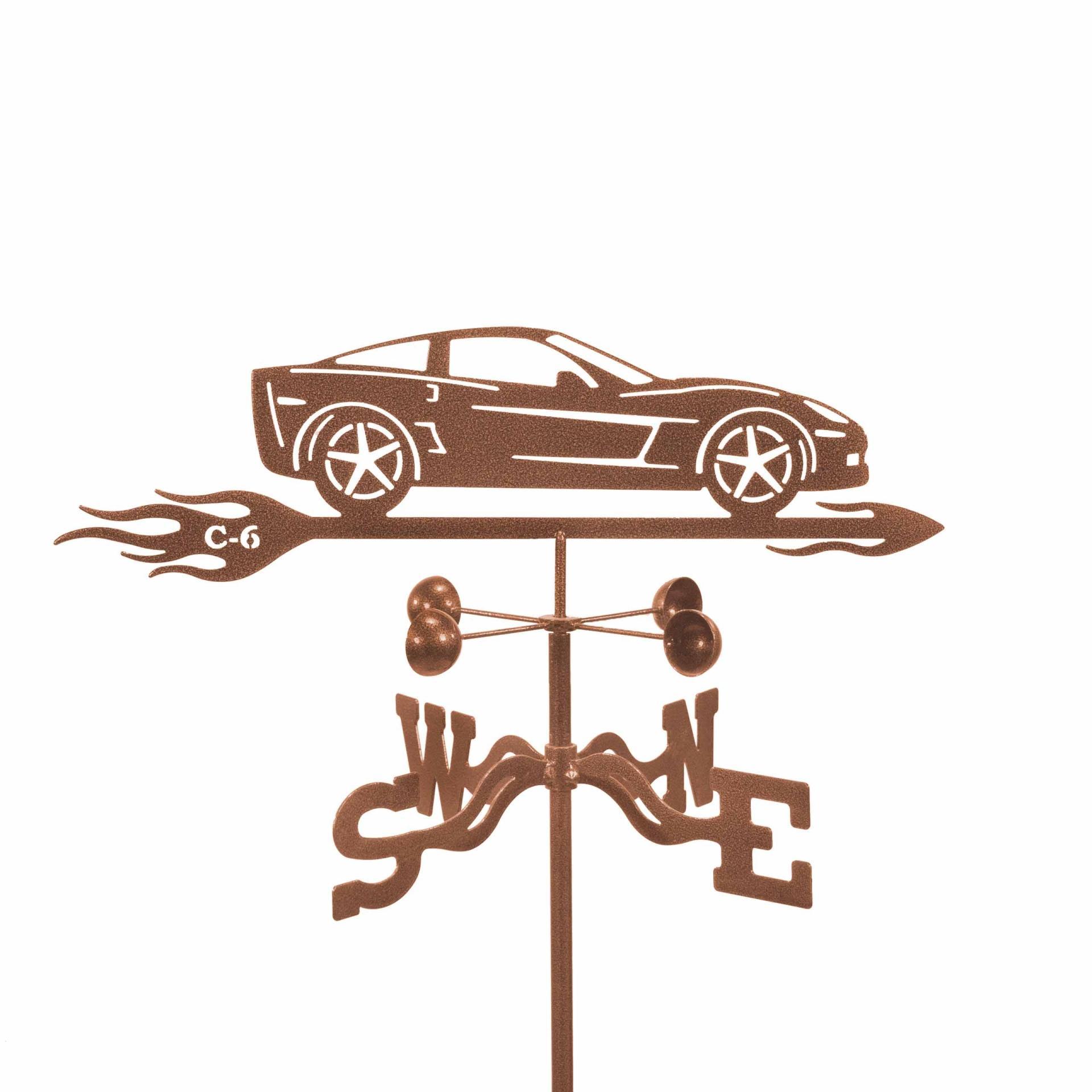 Corvette C6 with Flames Weathervane-0