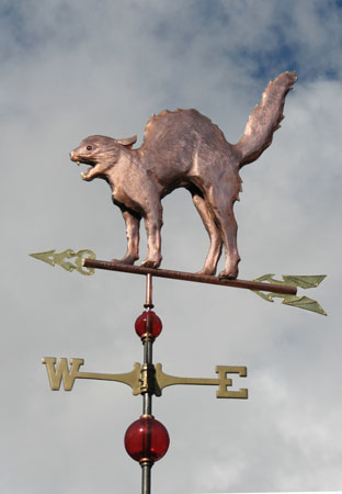 West Coast Weathervanes Scary Cat Weathervane
