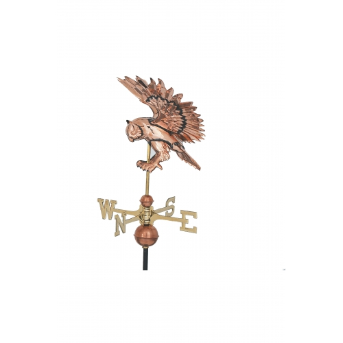 Flying Owl Copper Weathervane-0