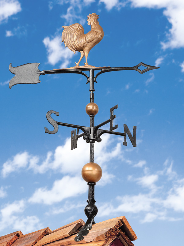 """30"""" Full-Bodied Rooster Weathervane-4233"""