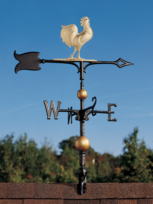 """30"""" Full-Bodied Rooster Weathervane-0"""