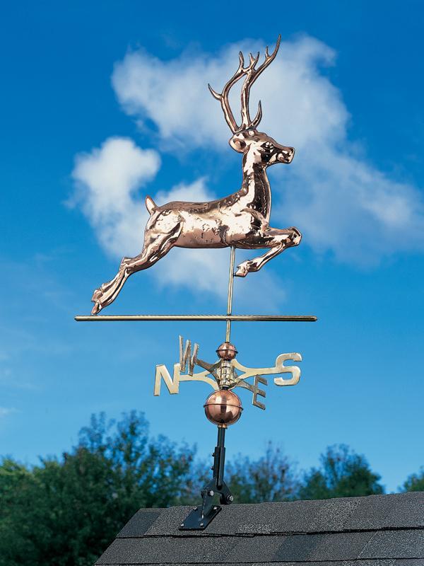 Copper Deer Weathervane-0
