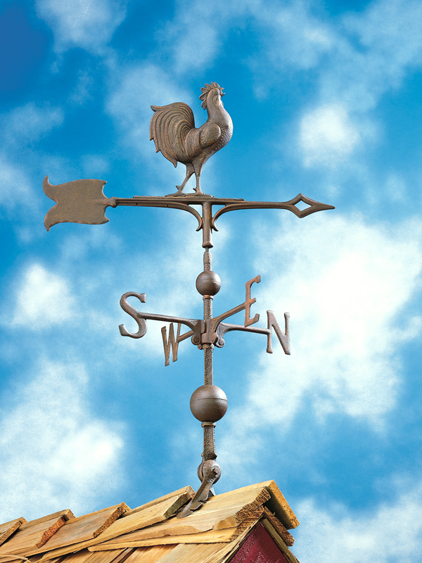 """30"""" Full-Bodied Rooster Weathervane-4232"""