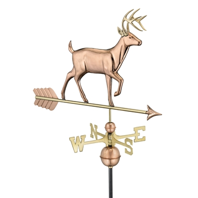 White Tail Buck Copper Hand Crafted Weathervane-0