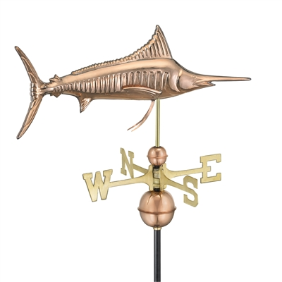 Marlin Outdoor Copper Weathervane -0