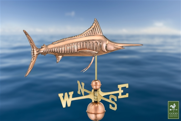 Marlin Outdoor Copper Weathervane -4538