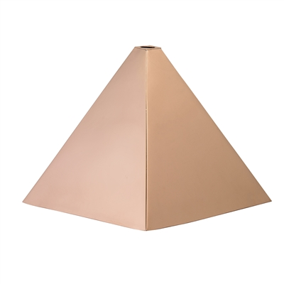 Round Polished Copper Finial Cap -4552