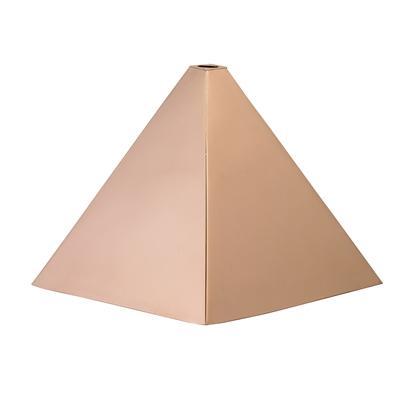 Hexagon Polished Copper Finial Cap -4555