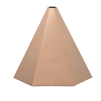 Round Polished Copper Finial Cap -4554