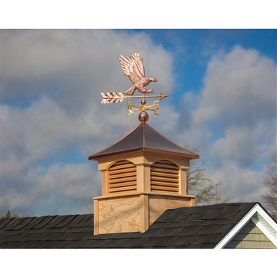 American Bald Eagle Weathervane Handcrafted From Pure Copper-4661