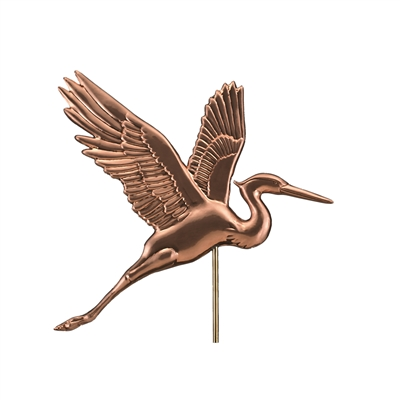 Graceful Blue Heron with Arrow Weathervane-4638