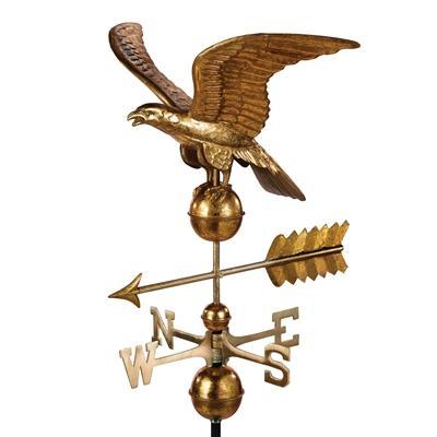Smithsonian Eagle Weathervane with Golden Leaf Finish-0