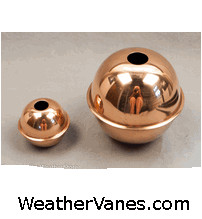 Copper Weathervane Spacer Balls-4694
