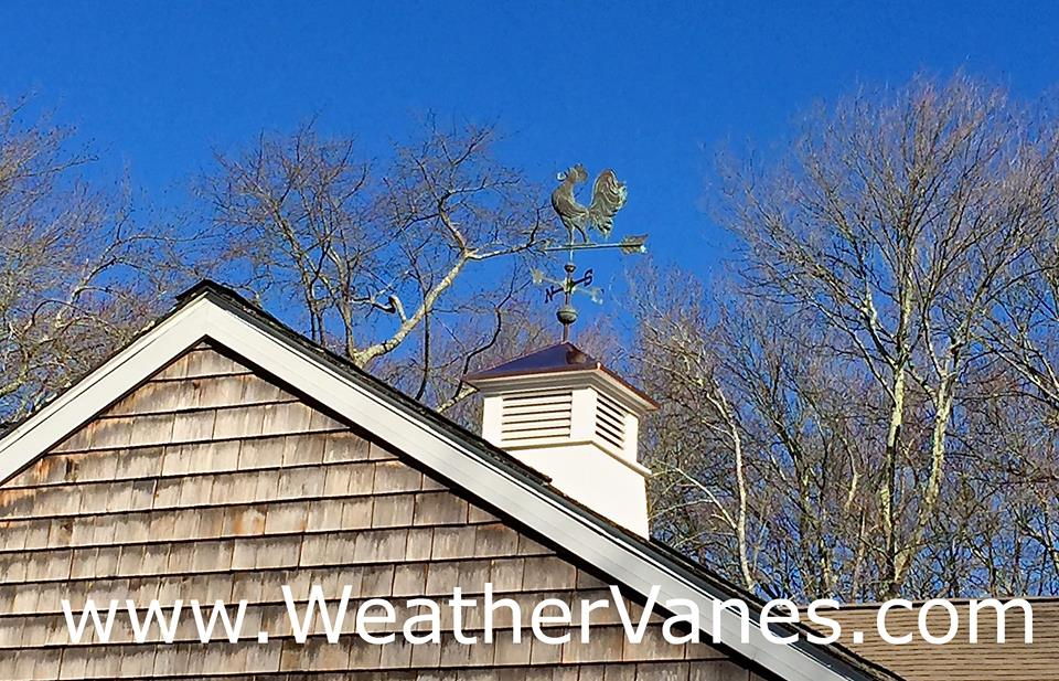 Hand Crafted Crowing Rooster Weathervane -2677