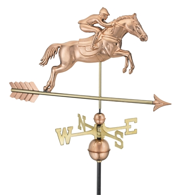 Horse & Rider Copper Weathervane 1912-0