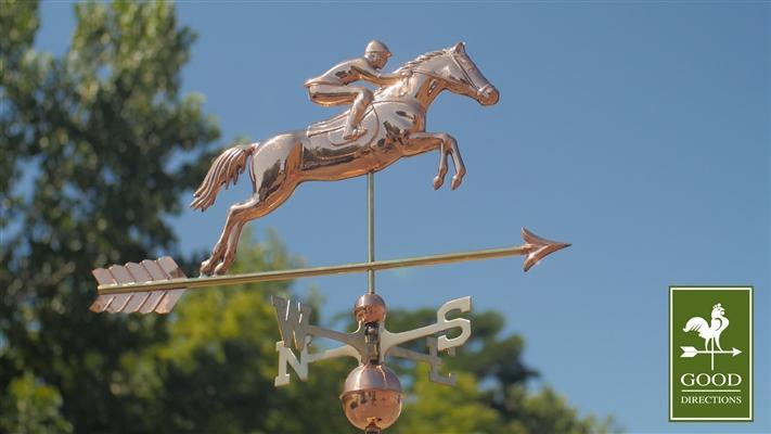 Horse & Rider Copper Weathervane 1912-4423