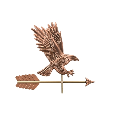 American Bald Eagle Weathervane Handcrafted From Pure Copper-4662