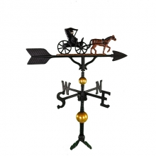 """Old Barn Rustic Co. 32"""" Deluxe Country Doctor Aluminum Weathervane-0"""
